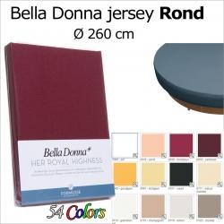 Bella donna jersey ROND hoeslaken 260 cm doorsnede